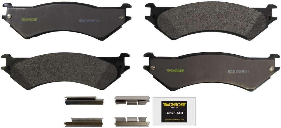 MONROE SEVERE SOLUTION BRAKE PADS - Monroe Brakes Severe Solution Brake Pads - M93 HDX802