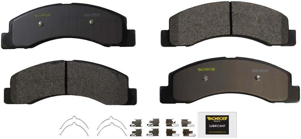 MONROE SEVERE SOLUTION BRAKE PADS - Monroe Brakes Severe Solution Brake Pads - M93 HDX824