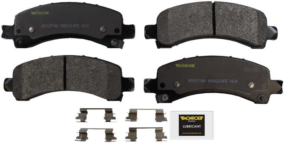 MONROE SEVERE SOLUTION BRAKE PADS - Monroe Brakes Severe Solution Brake Pads - M93 HDX974A
