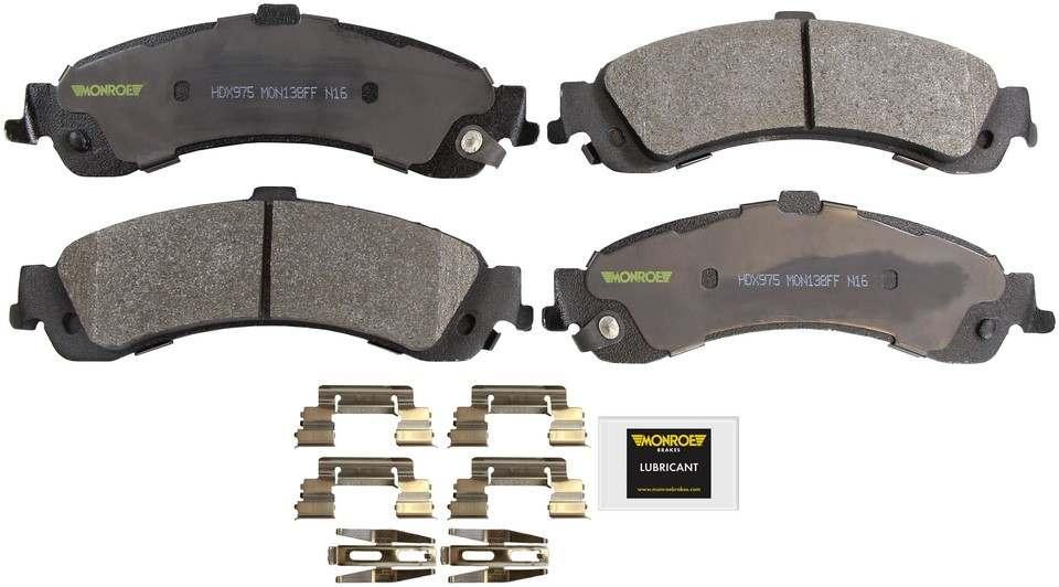 MONROE SEVERE SOLUTION BRAKE PADS - Monroe Brakes Severe Solution Brake Pads - M93 HDX975