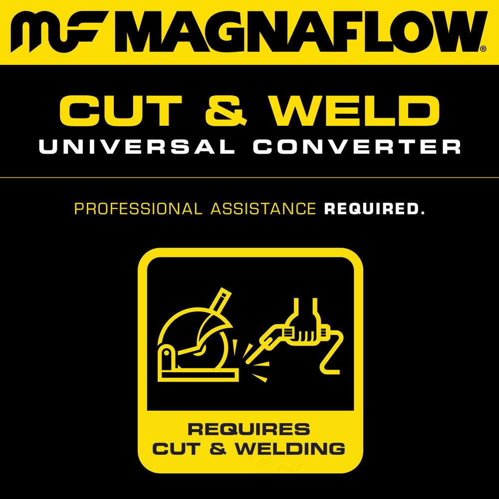 MAGNAFLOW CARB COMPLIANT CONVERTER - 2.25in. Universal California OBDII Catalytic Converter (Front) - MFC 551005