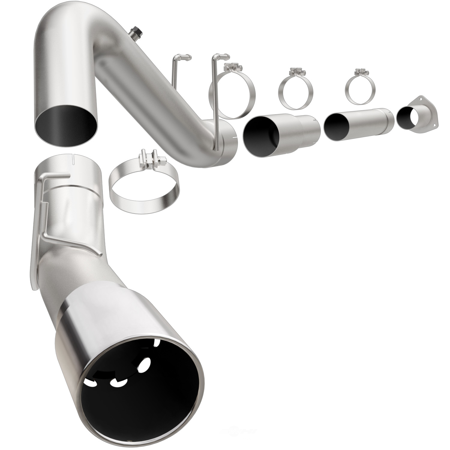 MAGNAFLOW PERF. EXHAUST - Aluminized Pro Series Diesel 5in. Filter-Back Exhaust System Kit - MGF 18933