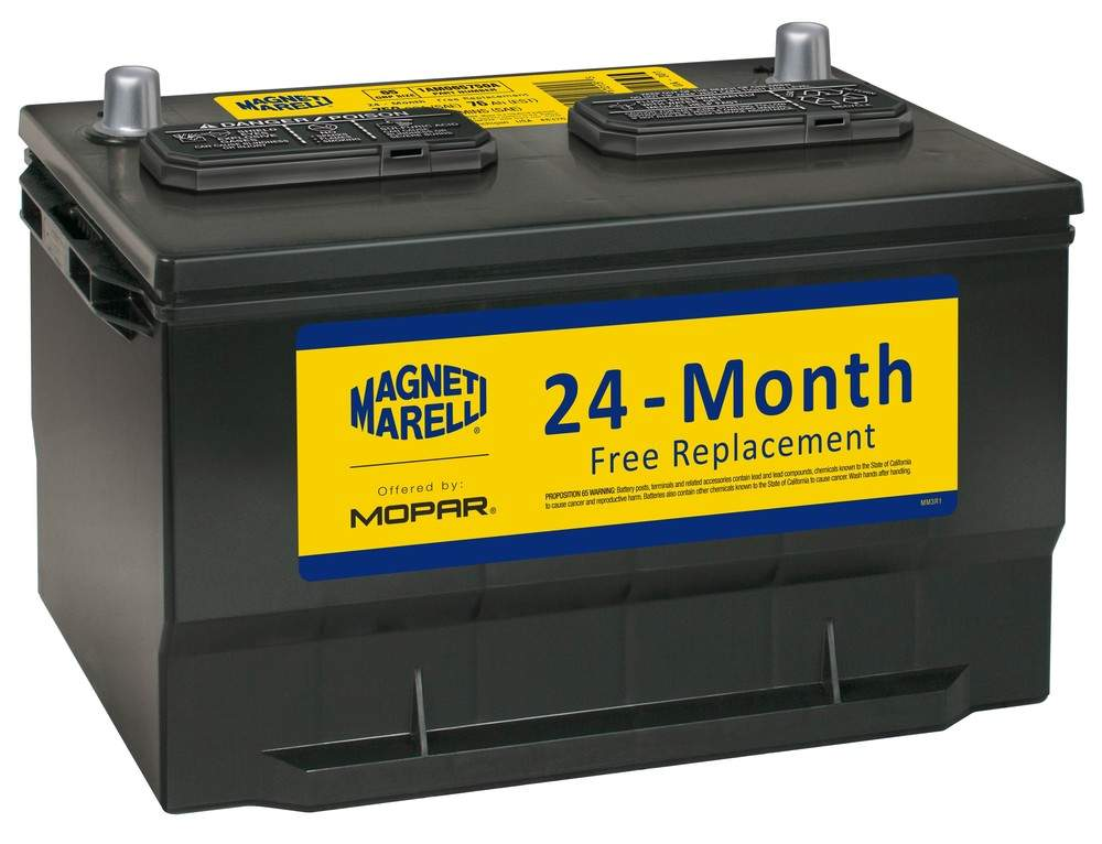 MAGNETI MARELLI OFFERED BY MOPAR - Vehicle Battery - MGM 1AM065750A