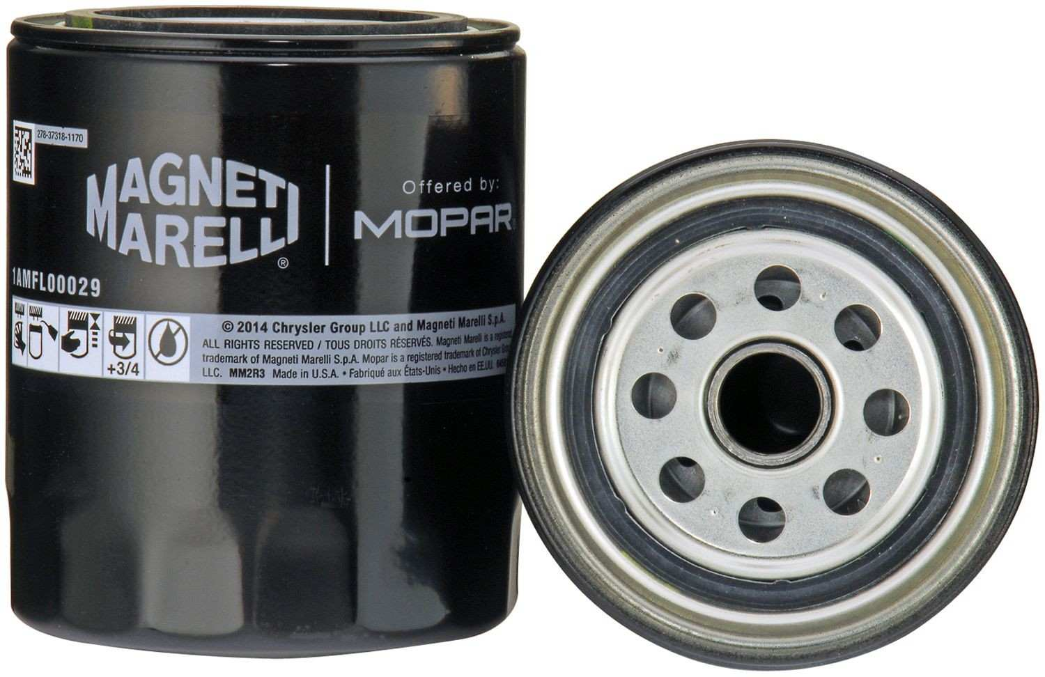 MAGNETI MARELLI OFFERED BY MOPAR - Engine Oil Filter - MGM 1AMFL00029