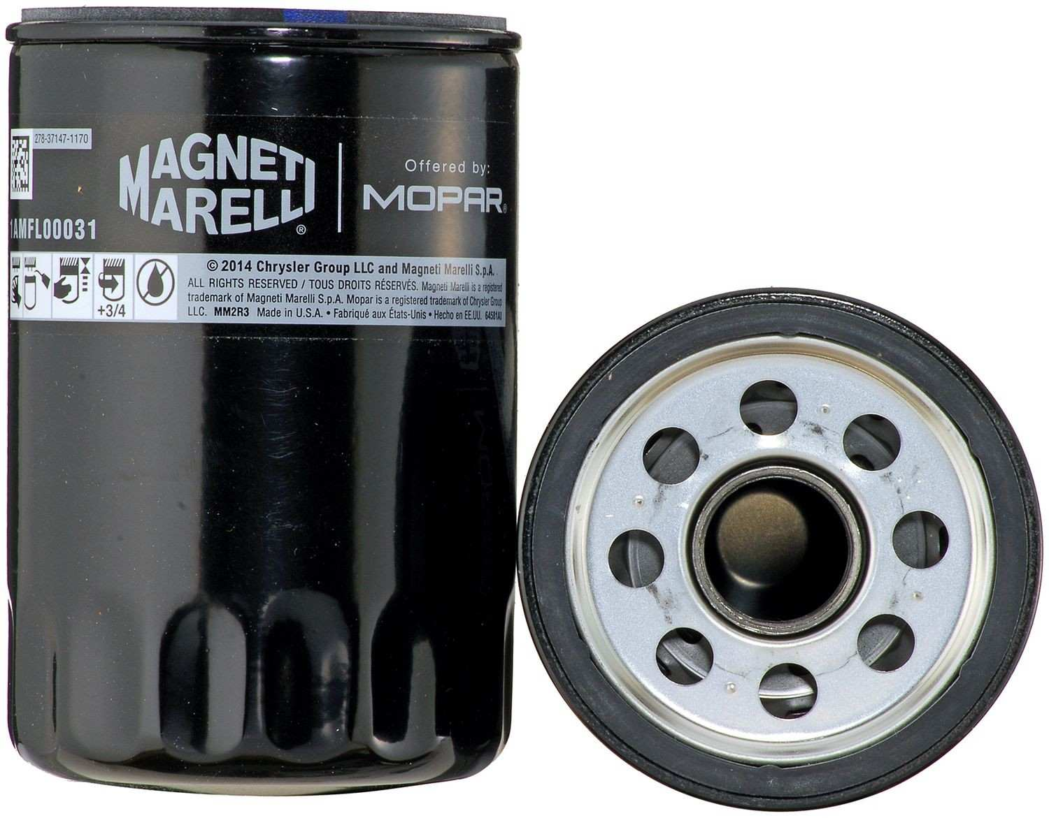 MAGNETI MARELLI OFFERED BY MOPAR - Engine Oil Filter - MGM 1AMFL00031