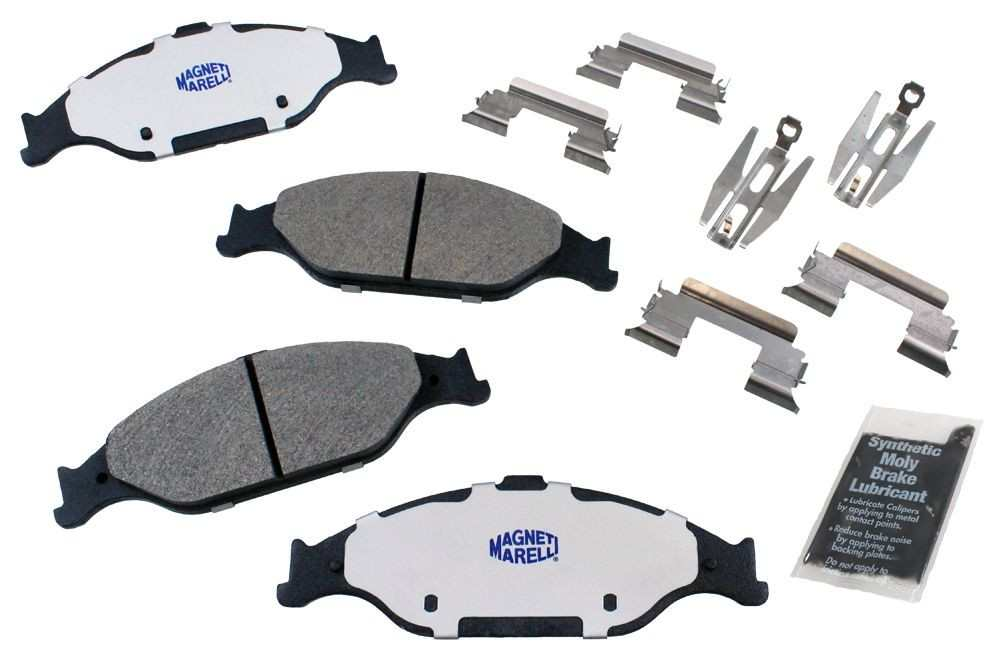 MAGNETI MARELLI OFFERED BY MOPAR - Metallic Disc Brake Pad (Front) - MGM 1AMV100804