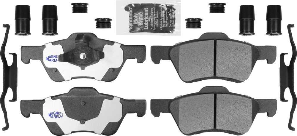 MAGNETI MARELLI OFFERED BY MOPAR - Heavy Duty Disc Brake Pad (Front) - MGM 1AMVF10470