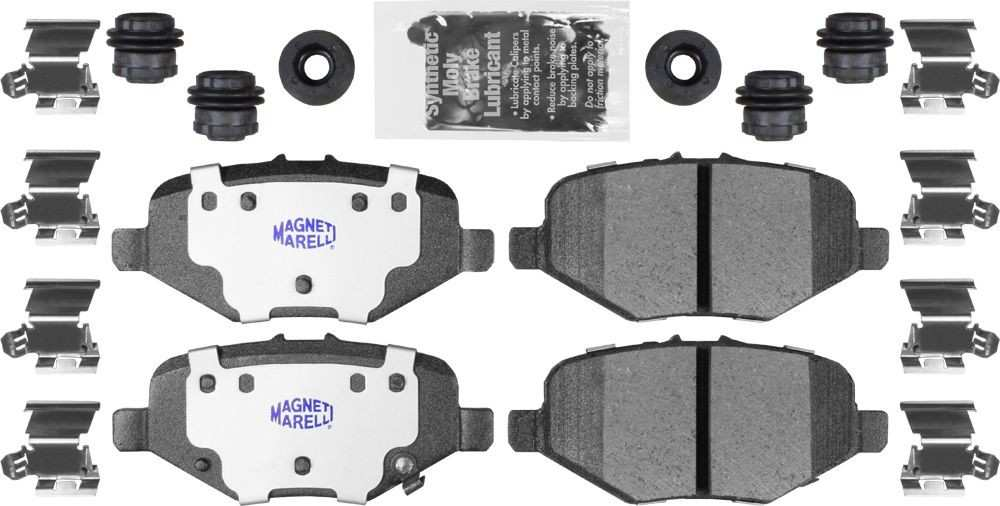 MAGNETI MARELLI OFFERED BY MOPAR - Heavy Duty Disc Brake Pad (Rear) - MGM 1AMVF21612
