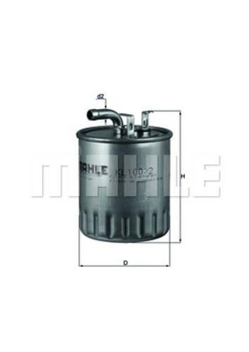 MAHLE ORIGINAL - Fuel Filter (In-Line) - MHL KL 100/2