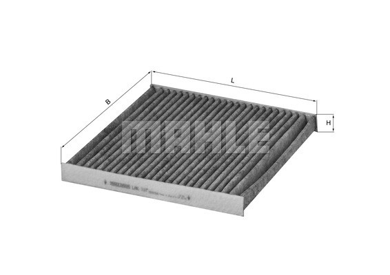 MAHLE ORIGINAL - Cabin Air Filter - MHL LAK 107