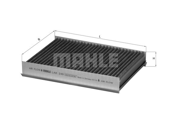 MAHLE ORIGINAL - Cabin Air Filter - MHL LAK 249