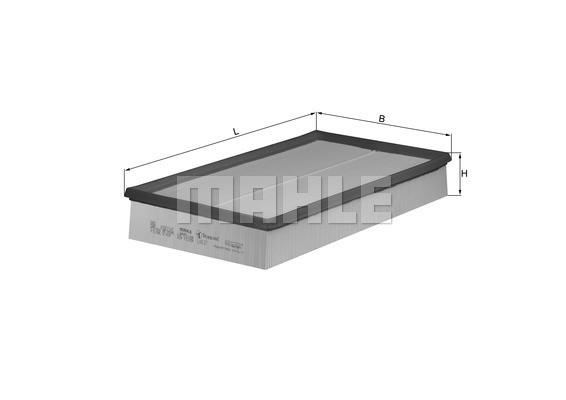 MAHLE ORIGINAL - Air Filter - MHL LX 637