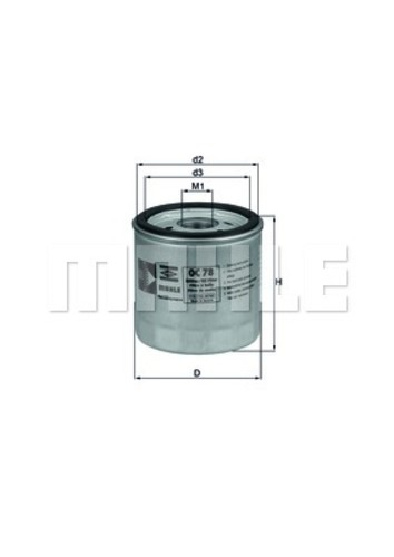 MAHLE ORIGINAL - Engine Oil Filter - MHL OC 78