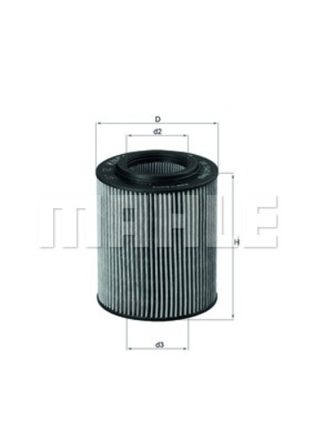 MAHLE ORIGINAL - Engine Oil Filter - MHL OX 154/1D