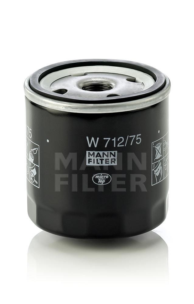 MANN-FILTER - Engine Oil Filter - MNH W 712/75