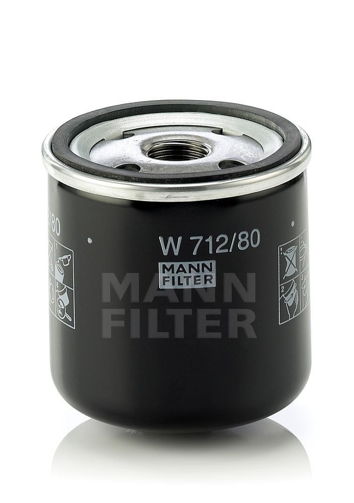 MANN-FILTER - Engine Oil Filter - MNH W 712/80