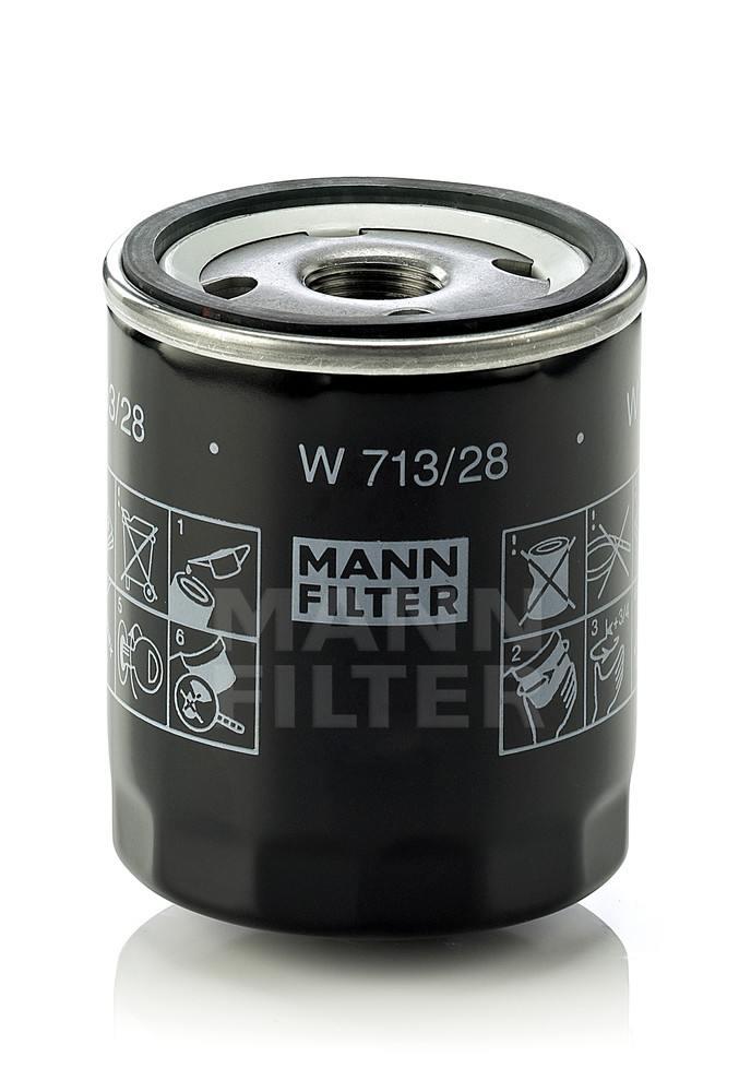 MANN-FILTER - Engine Oil Filter - MNH W 713/28