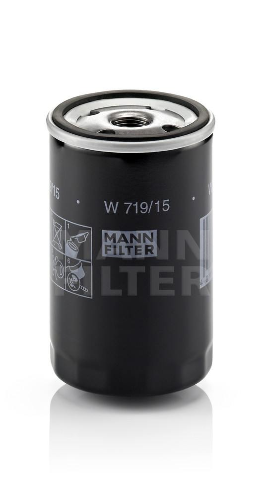 MANN-FILTER - Engine Oil Filter - MNH W 719/15