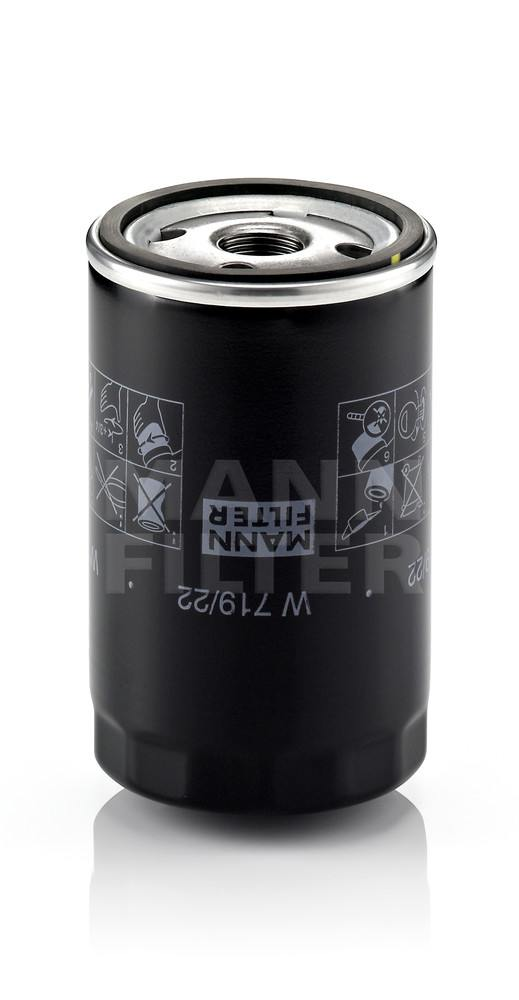 MANN-FILTER - Engine Oil Filter - MNH W 719/22