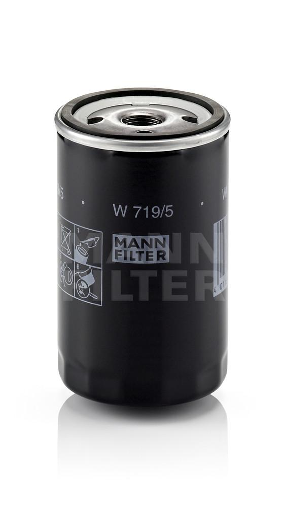 MANN-FILTER - Engine Oil Filter - MNH W 719/5
