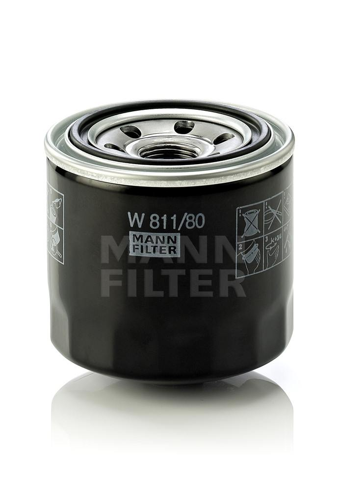 MANN-FILTER - Engine Oil Filter - MNH W 811/80
