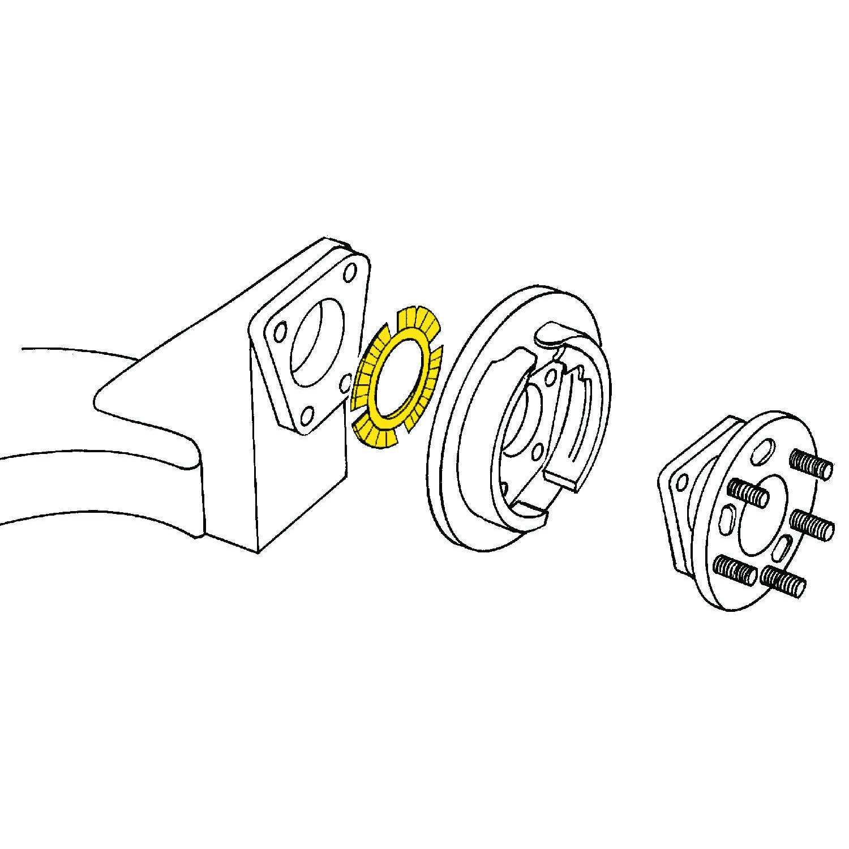 MOOG - Alignment Camber/Toe Shim (Rear) - MOO K6717-1