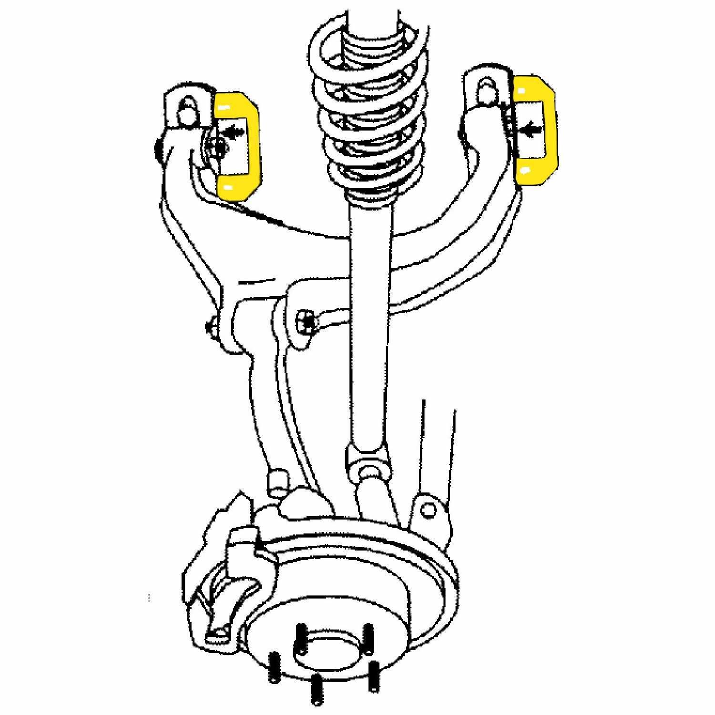 MOOG - Alignment Camber Kit (Rear Upper) - MOO K7332