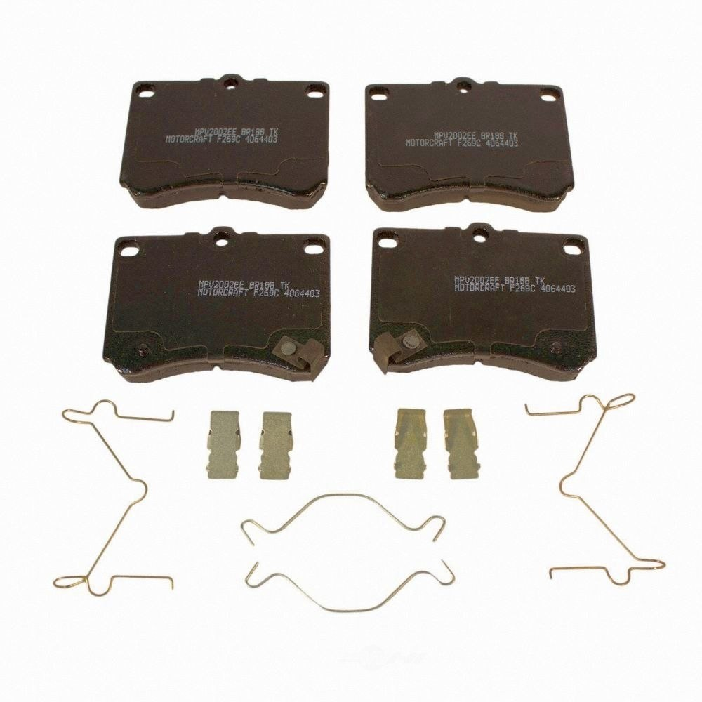 MOTORCRAFT - Standard Premium Integrally Molded Disc Brake Pad (Front) - MOT BR-18B