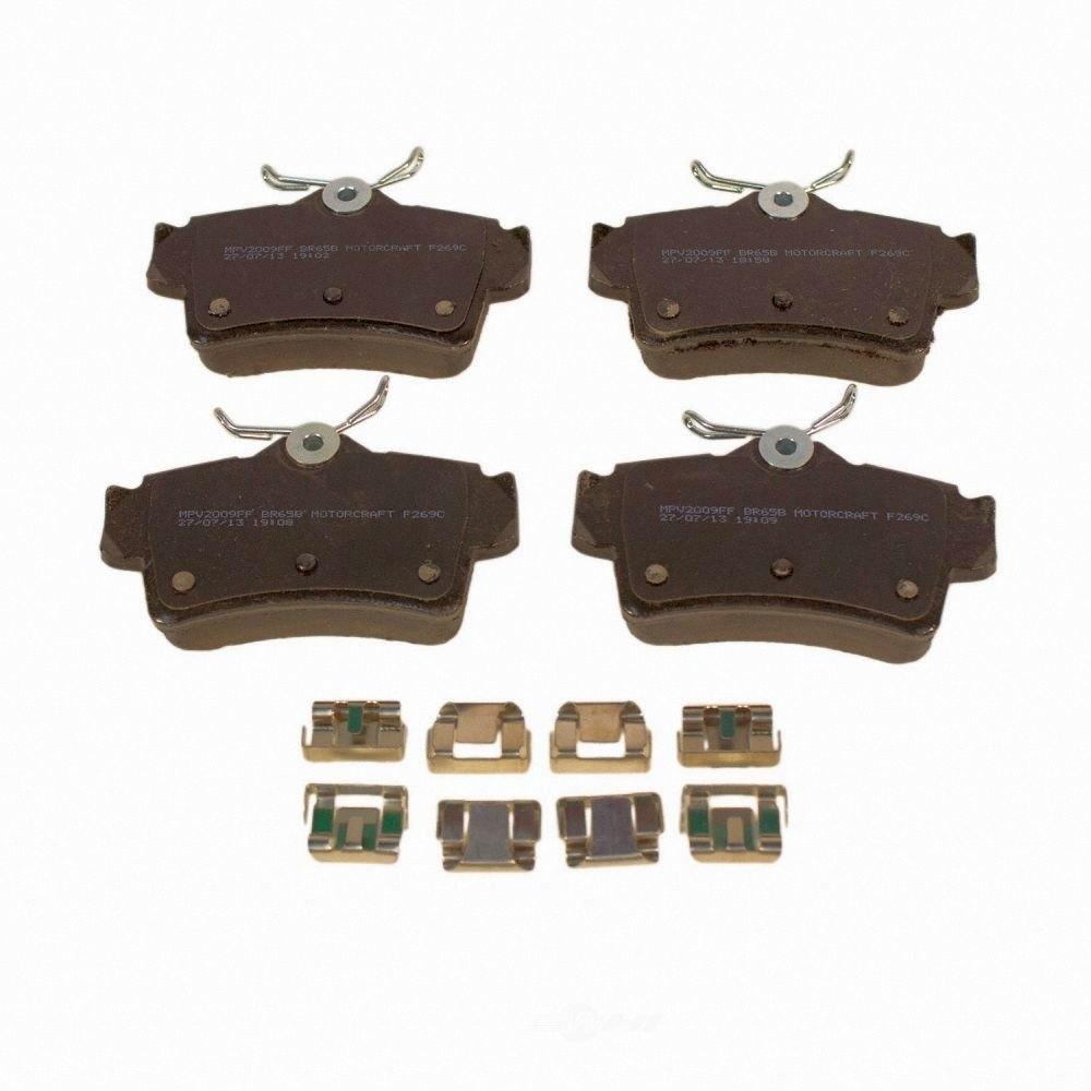 MOTORCRAFT - Standard Premium Integrally Molded Organic Disc Brake Pad (Rear) - MOT BR-65B