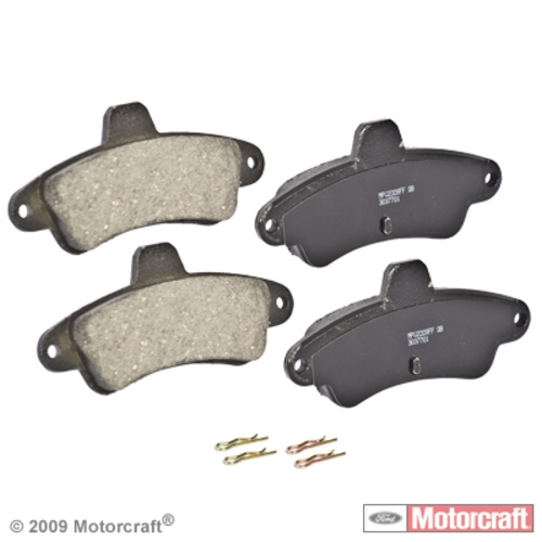 MOTORCRAFT - Standard Premium Integrally Molded Organic Disc Brake Pad (Rear) - MOT BR-66B