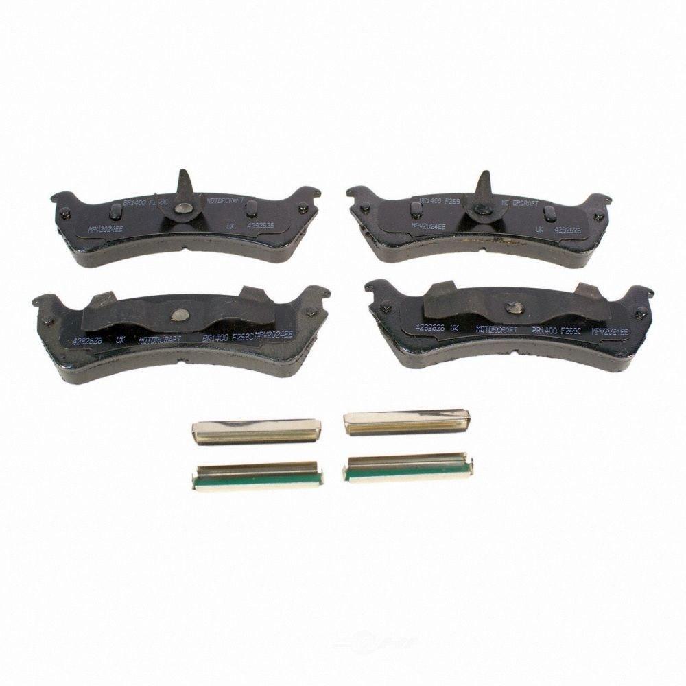 MOTORCRAFT - Standard Premium Integrally Molded Disc Brake Pad (Rear) - MOT BR-1400
