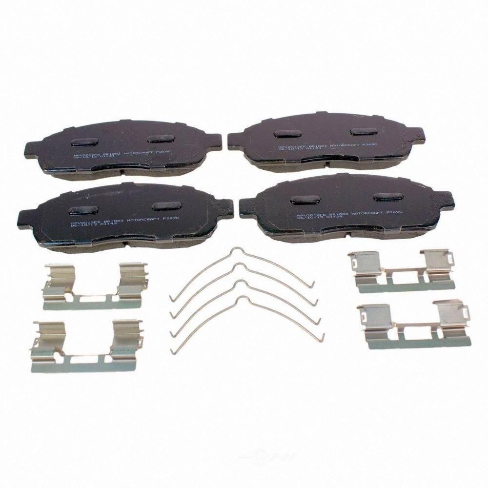 MOTORCRAFT - Standard Premium Integrally Molded Disc Brake Pad (Front) - MOT BR-1083