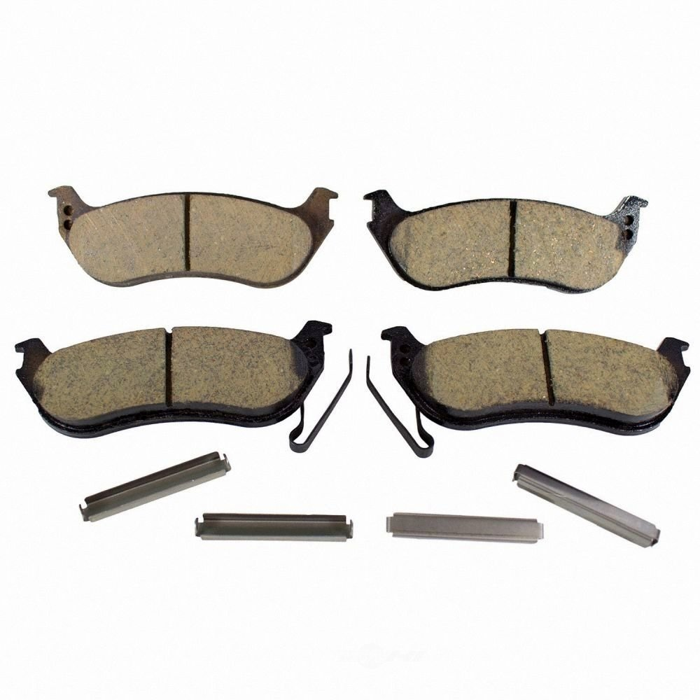 MOTORCRAFT - Standard Premium Integrally Molded Organic Disc Brake Pad (Rear) - MOT BR-1109B