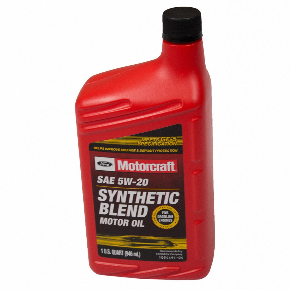 MOTORCRAFT - Premium Synthetic Blend Motor Oil - Quart - MOT XO-5W20-QSP