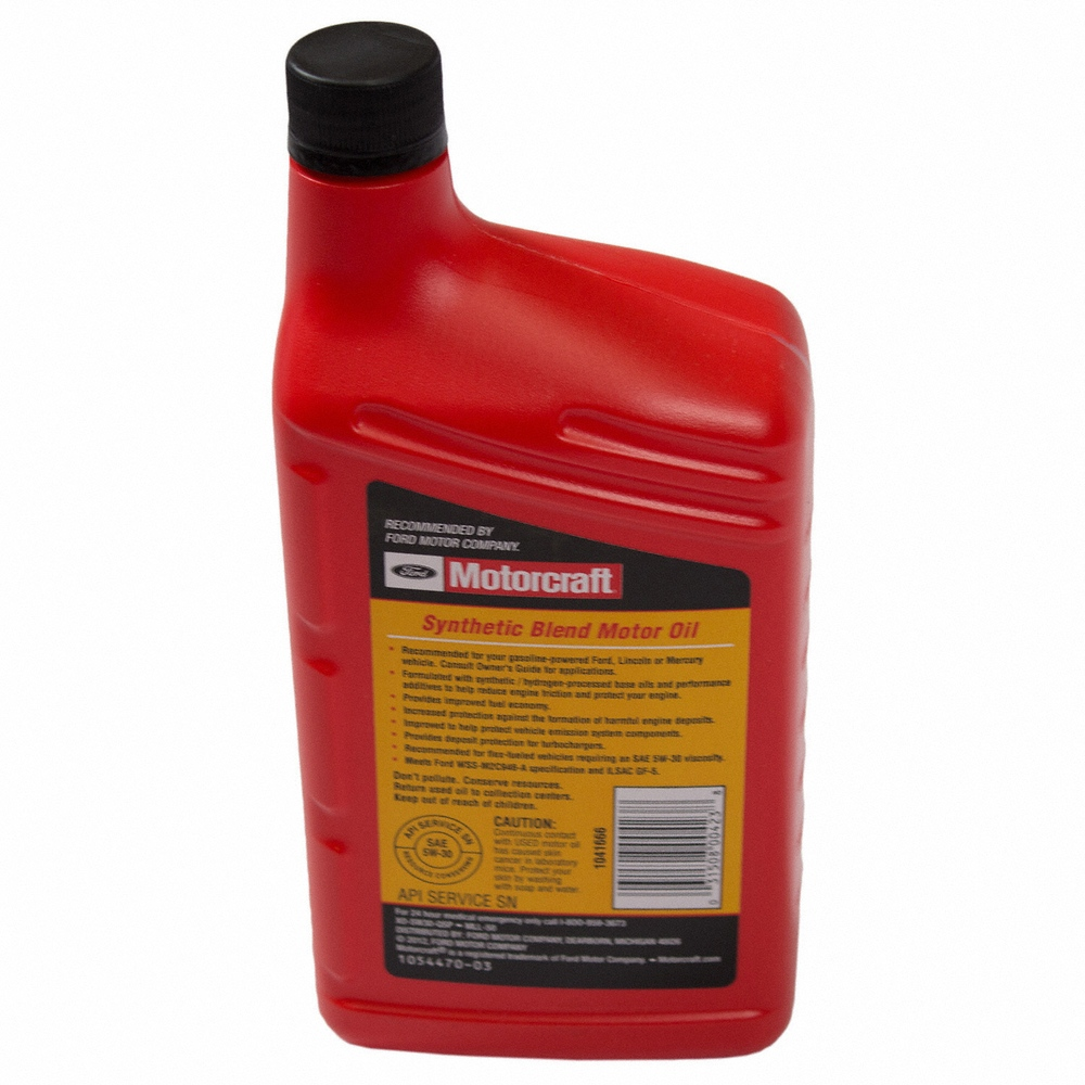 MOTORCRAFT - Premium Synthetic Blend Motor Oil - Quart - MOT XO-5W30-QSP