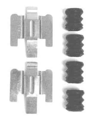 MOTORCRAFT - Disc Brake Hardware Kit - MOT BRPK-5617