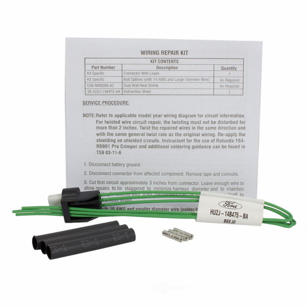MOTORCRAFT - Delta Pressure Feedback EGR Sensor Connector - MOT WPT-1492