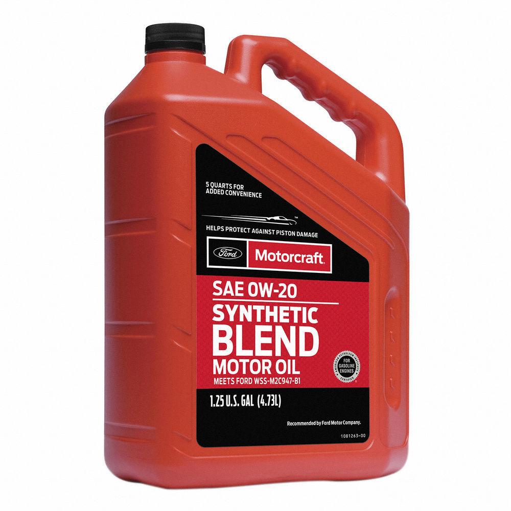 MOTORCRAFT - Premium Synthetic Blend Motor Oil - 5 Quart - MOT XO-0W20-5Q3SP