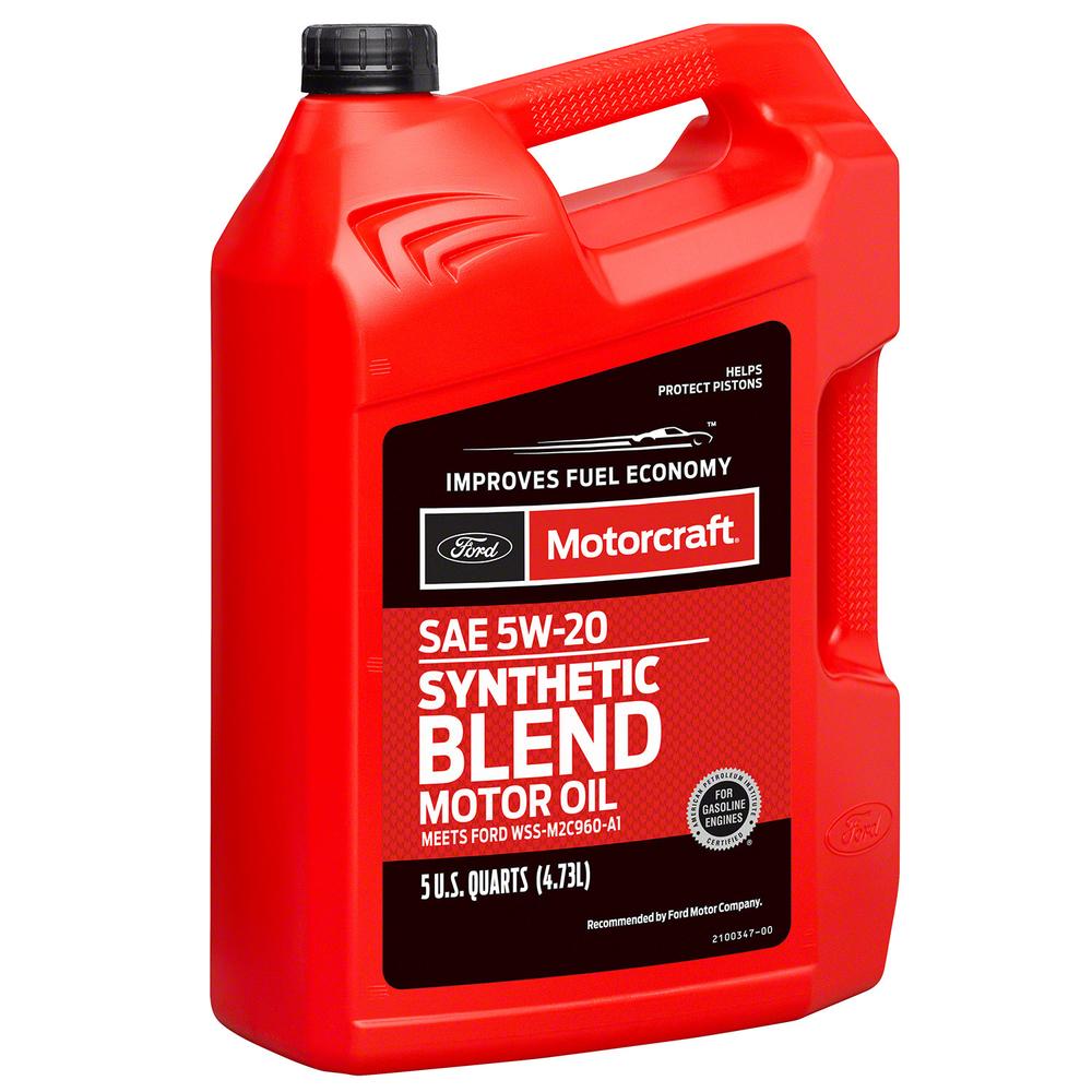 MOTORCRAFT - Premium Synthetic Blend Motor Oil - 5 Quart - MOT XO-5W20-5Q3SP