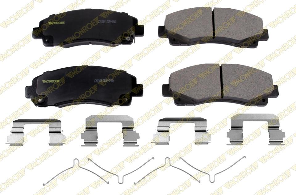 MONROE PREMIUM BRAKE PADS - Monroe Ceramics Brake Pad - MPD CX1584