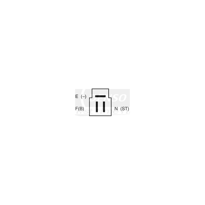 DENSO - Reman Alternator - NDE 210-0244
