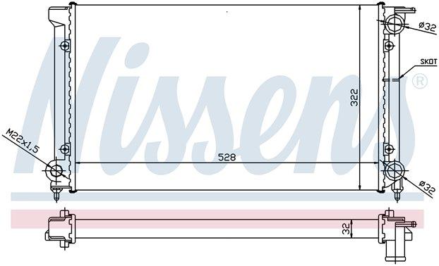 NISSENS NORTH AMERICA INC. - Radiator - NSE 651511