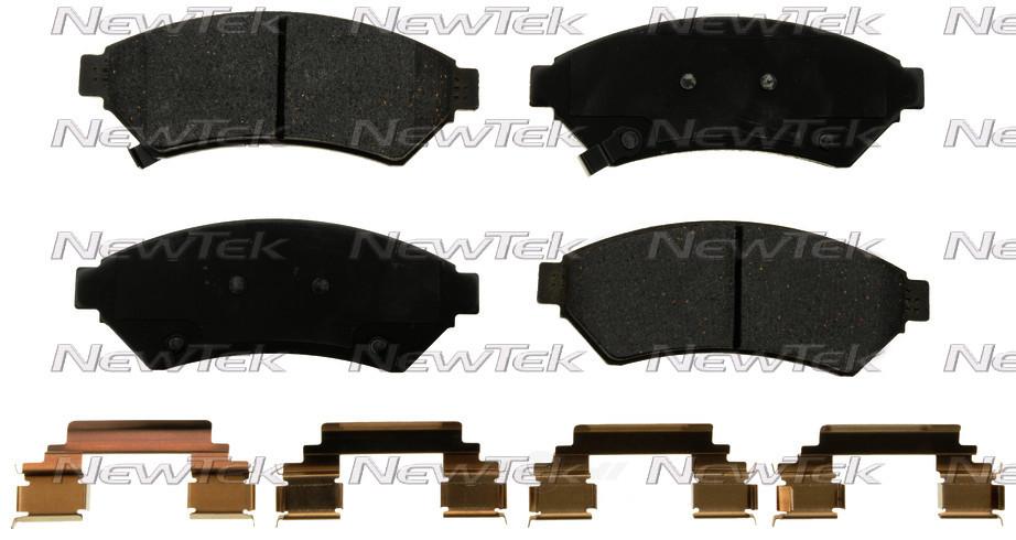 NEWTEK AUTOMOTIVE - Velocity Plus Economy Semi-metallic W/shim Disc Pads - NWT SMD1075