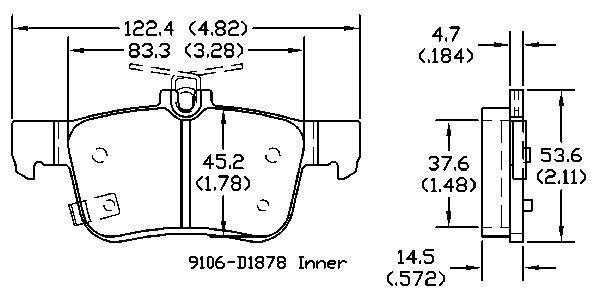 OMNIPARTS - Disc Brake Pad Set (Rear) - OM1 13051364