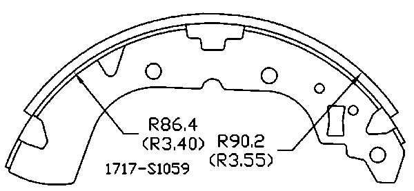 OMNIPARTS - Drum Brake Shoe (Rear) - OM1 13070611