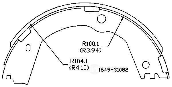 OMNIPARTS - Parking Brake Shoe - OM1 13074119