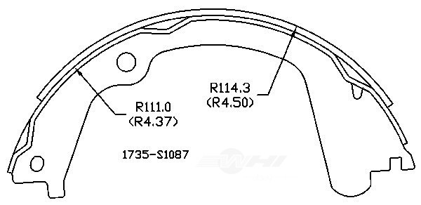 OMNIPARTS - Parking Brake Shoe - OM1 13074120