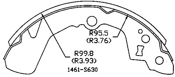 OMNIPARTS - Drum Brake Shoe (Rear) - OM1 13070280