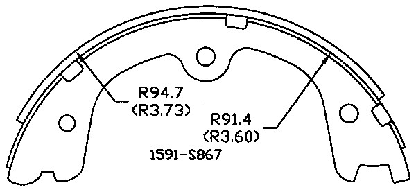 OMNIPARTS - Parking Brake Shoe - OM1 13070461