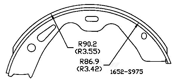 OMNIPARTS - Parking Brake Shoe - OM1 13077043